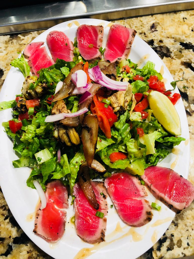 SEARED AHI TUNA w/ Sesame ginger salad